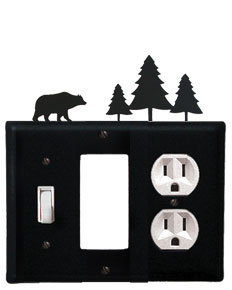 Bear & Pine Trees - Single Switch, GFI and Outlet Cover