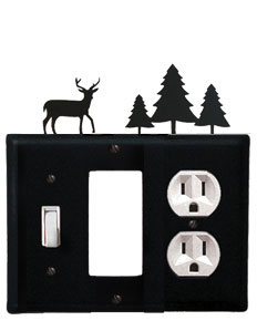 Deer & Pine Trees - Single Switch, GFI and Outlet Cover