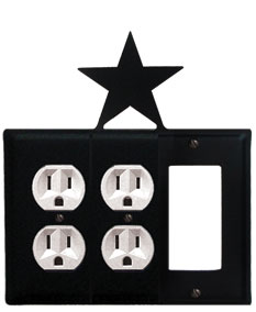 Star - Double Outlet and Single GFI Cover