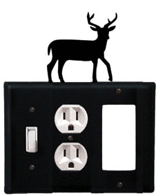 Deer - Single Switch, Outlet and GFI Cover - CUSTOM Product - If Out Of Stock, Allow 4 to 6 Weeks