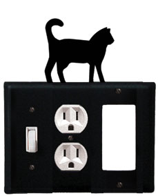 Cat - Single Switch, Outlet and GFI Cover - CUSTOM Product - If Out Of Stock, Allow 4 to 6 Weeks