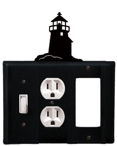 Lighthouse - Single Switch, Outlet and GFI Cover - CUSTOM Product - If Out Of Stock, Allow 4 to 6 Weeks