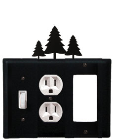 Pine Trees - Single Switch, Outlet and GFI Cover - CUSTOM Product - If Out Of Stock, Allow 4 to 6 Weeks