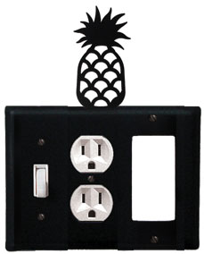 Pineapple - Single Switch, Outlet and GFI Cover - CUSTOM Product - If Out Of Stock, Allow 4 to 6 Weeks