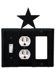 Star - Single Switch, Outlet and GFI Cover - CUSTOM Product - If Out Of Stock, Allow 4 to 6 Weeks