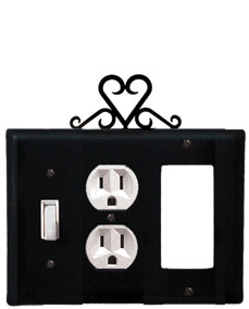 Heart - Single Switch, Outlet and GFI Cover - CUSTOM Product - If Out Of Stock, Allow 4 to 6 Weeks
