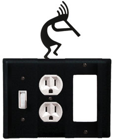 Kokopelli - Single Switch, Outlet and GFI Cover - CUSTOM Product - If Out Of Stock, Allow 4 to 6 Weeks
