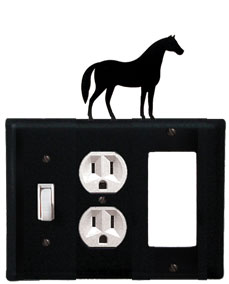 Horse - Single Switch, Outlet and GFI Cover - CUSTOM Product - If Out Of Stock, Allow 4 to 6 Weeks
