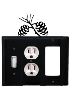 Pinecone - Single Switch, Outlet and GFI Cover - CUSTOM Product - If Out Of Stock, Allow 4 to 6 Weeks