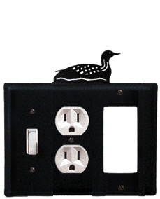 Loon - Single Switch, Outlet and GFI Cover - CUSTOM Product - If Out Of Stock, Allow 4 to 6 Weeks