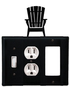 Adirondack - Single Switch, Outlet and GFI Cover - CUSTOM Product - If Out Of Stock, Allow 4 to 6 Weeks