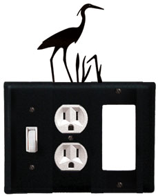 Heron - Single Switch, Outlet and GFI Cover - CUSTOM Product - If Out Of Stock, Allow 4 to 6 Weeks