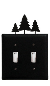 Pine Trees - Double Switch Cover