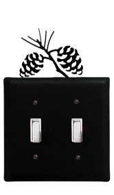 Pinecone - Double Switch Cover