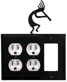 Kokopelli - Double Outlet and Single GFI Cover