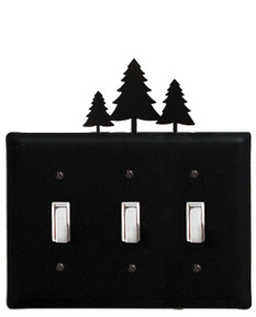 Pine Trees - Triple Switch Cover