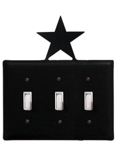 Star - Triple Switch Cover