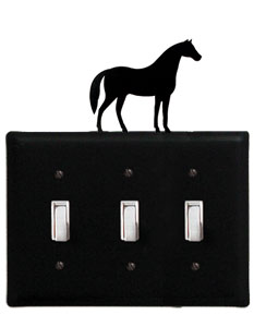Horse - Triple Switch Cover