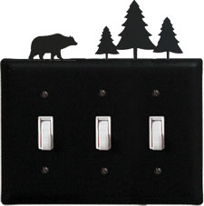 Bear & Pine - Triple Switch Cover