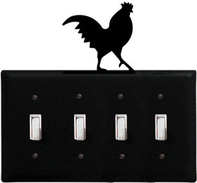 Rooster - Quadruple Switch Cover