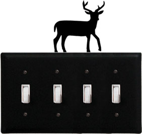 Deer - Quadruple Switch Cover