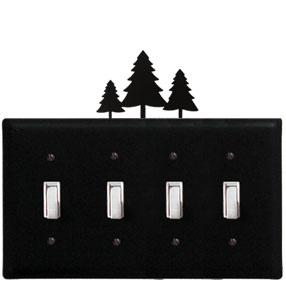 Pine Trees - Quadruple Switch Cover