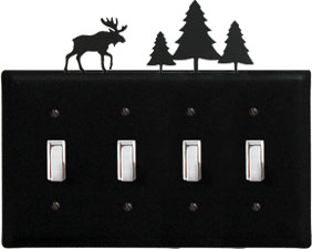 Moose & Pine - Quadruple Switch Cover