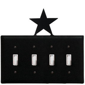 Star - Quadruple Switch Cover