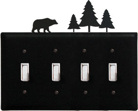 Bear/Pine - Quadruple Switch Cover