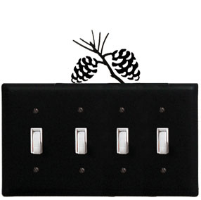 Pinecone - Quadruple Switch Cover