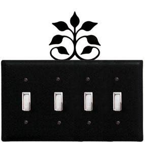 Leaf Fan - Quadruple Switch Cover
