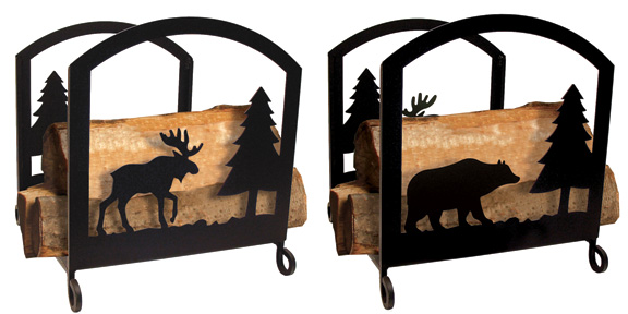 Moose & Bear Wood Rack