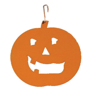 Pumpkin - Decorative Hanging Silhouette-ORANGE