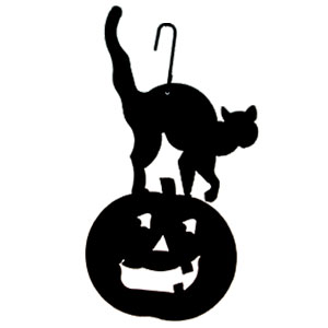 Cat/Pumpkin - Decorative Hanging Silhouette