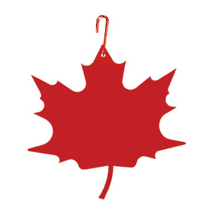 Maple Leaf - Decorative Hanging Silhouette-RED