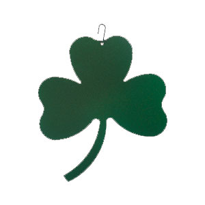 Shamrock - Decorative Hanging Silhouette-GREEN