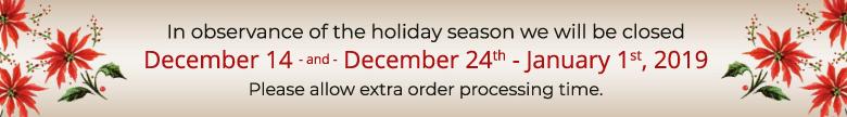 Holiday Closure 2018 Notice