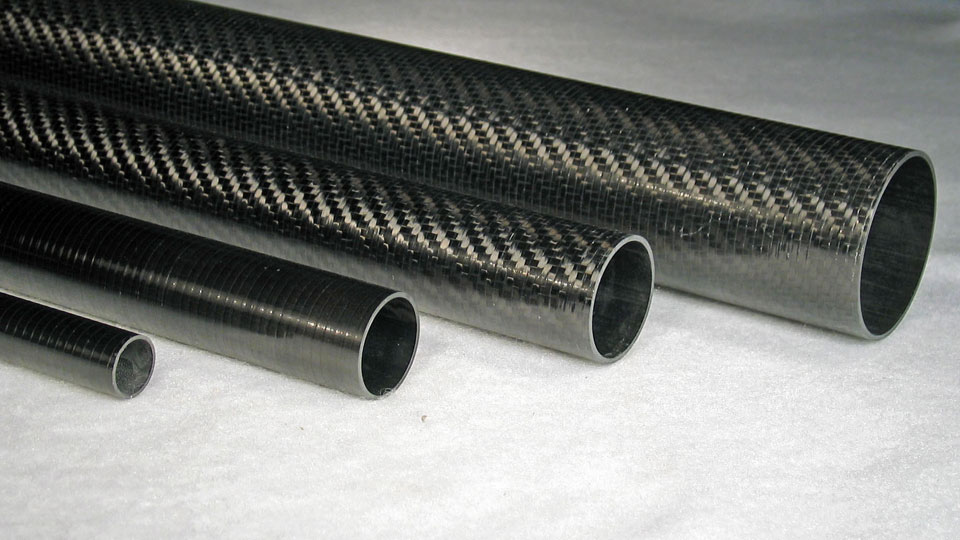 Carbon Fiber Uni Roll Wrapped Tubes