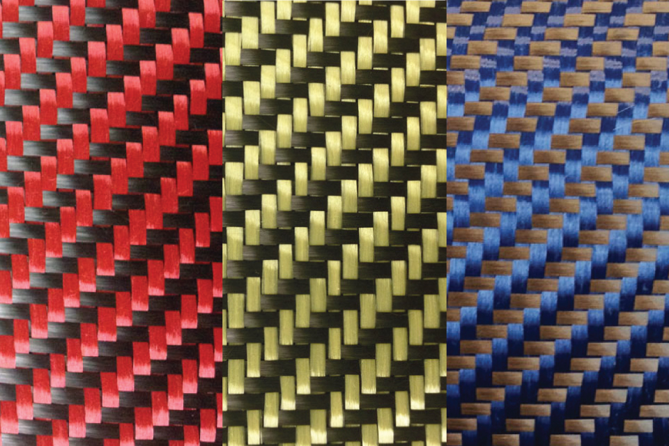 5.4 oz. Carbon Fiber/Aramid 2x2 Twill Weave Fabric