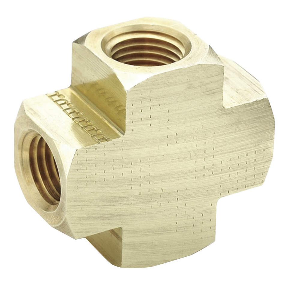 4-Way Brass Connector