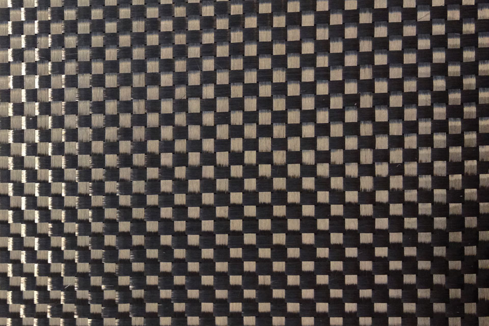 5.7 oz Carbon Fiber Fabric Plain Weave Swatch