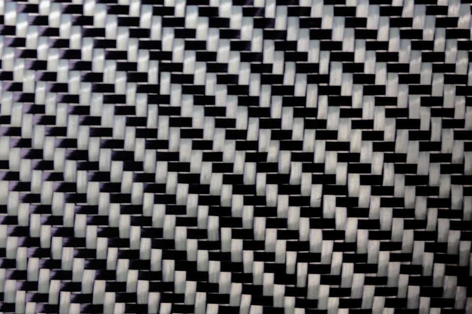 5.7 oz Carbon Fiber Fabric 2x2 Twill Weave Swatch