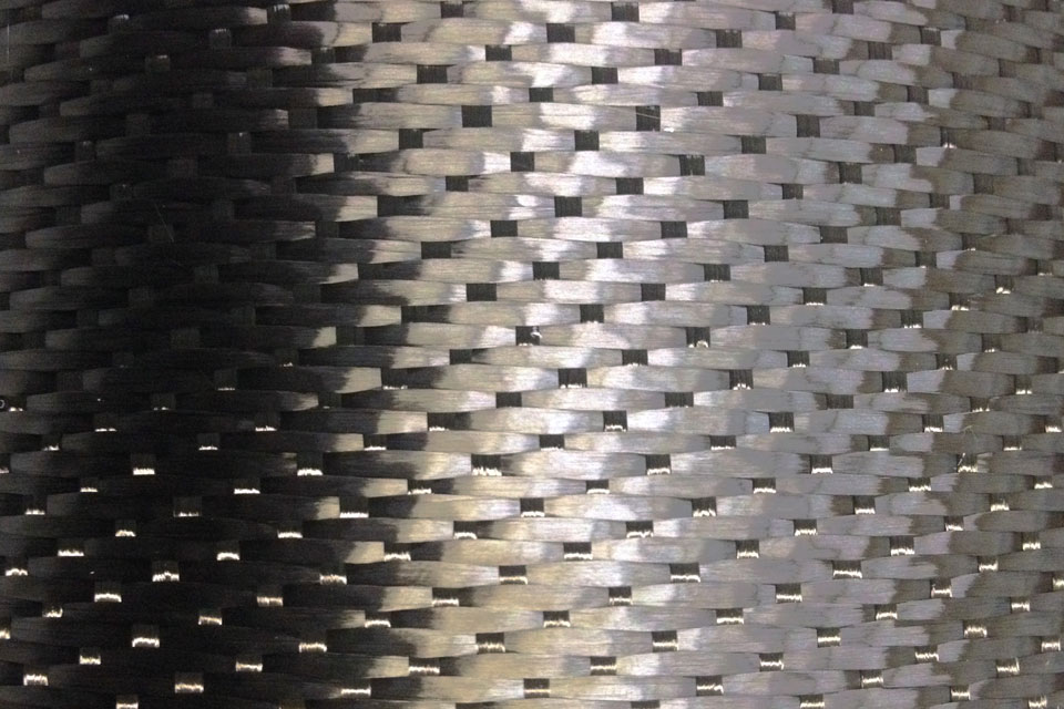 10.8 oz Carbon Fiber Fabric 5H Satin Weave Swatch