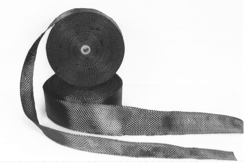"2"" x .012"" Carbon Fiber Woven Tape Swatch"