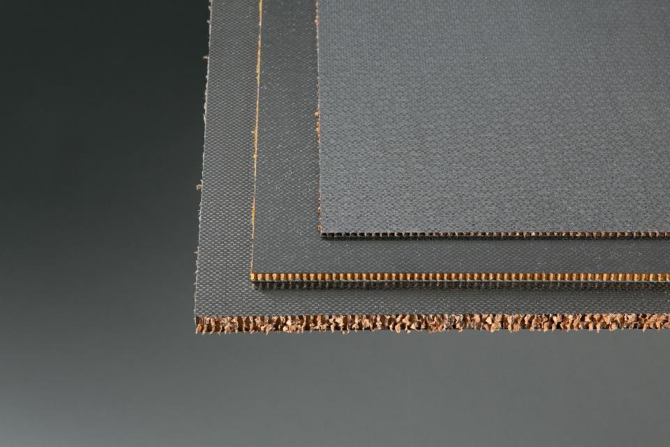 ".125"" x 48"" x 96"" CF 3 Ply/Honeycomb, 2 PCF Sandwich Panel"