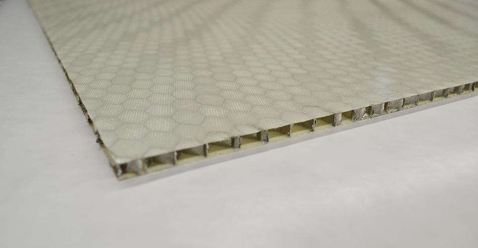".250"" x 48"" x 96"" Fiberglass 1 Ply/Aluminum Sandwich Panel"