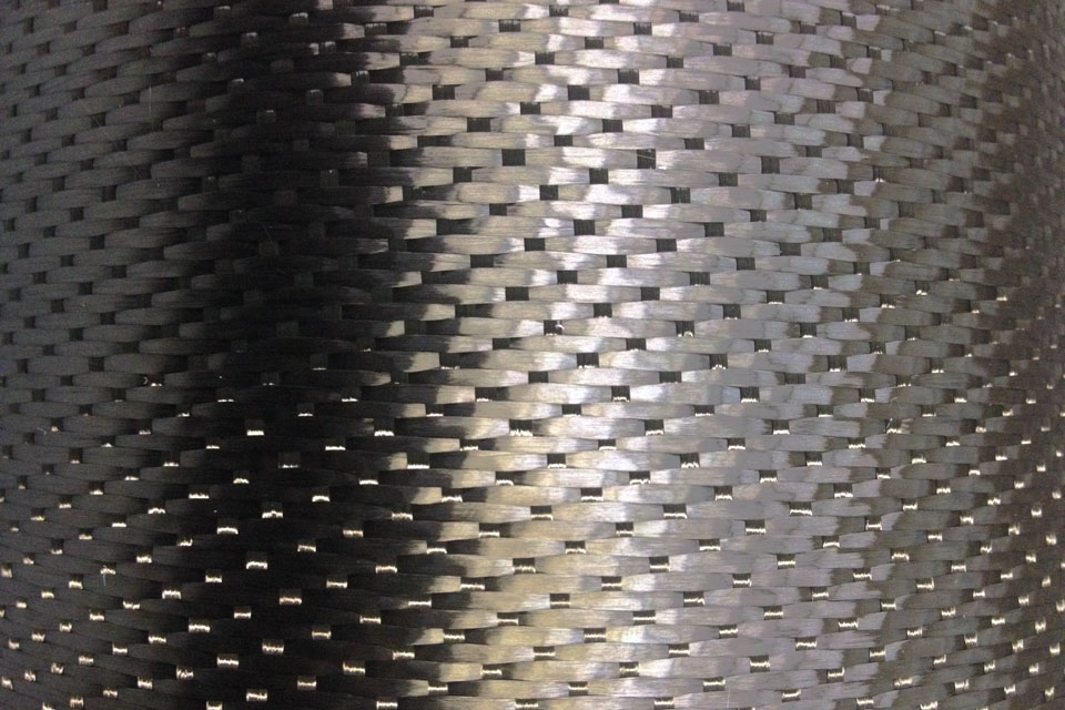 "10.9 oz Carbon Fiber Fabric 5HS 60"" Tracers"