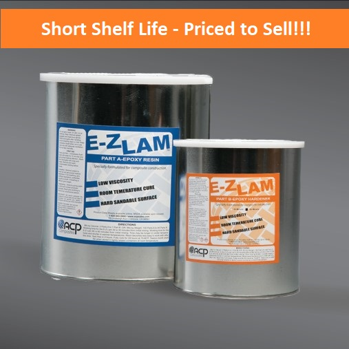 SALE!!! - EZ-Lam Epoxy Resin (30 Min.) 192 oz. Kit - Expiring